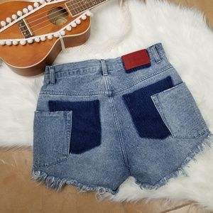 One Teaspoon High Waisted Bonita Shorts 27